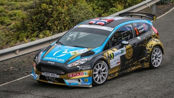 El primer accidente del Rally Isla Canarias 2016
