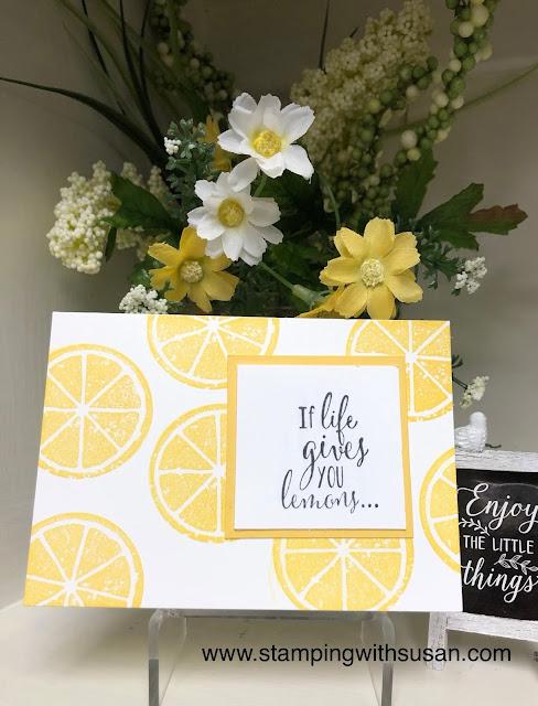 Stampin' Up!, Lemon Zest, www.stampingwithsusan.com,