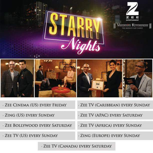 'Starry Nights' Chat Show on Zee Channel Wiki Plot,Host,Guest,Promo,Timing