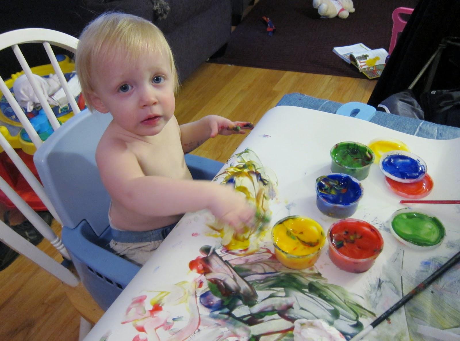 Art Is Basic Art Teacher Blog My 18 Month Old Painting