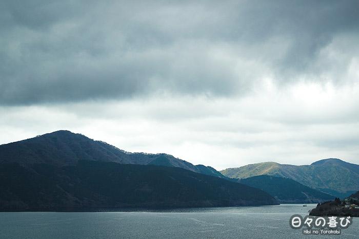 vue sur le lac ashi depuis le parc onshihakone