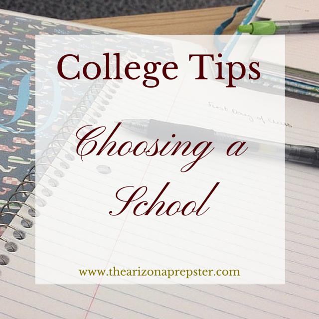 College…Choosing a School