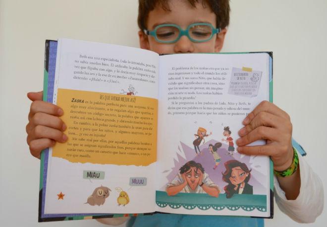 colección zaska, interior cuento, libros infantiles