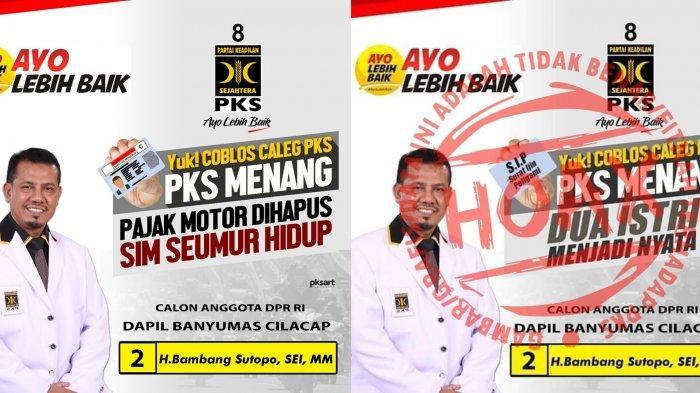 Poster hoax pks menang dua istri menjadi nyata