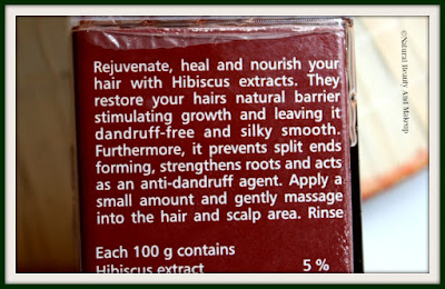 The Nature's Co Hibiscus Anti Dandruff Hair Cleanser product description