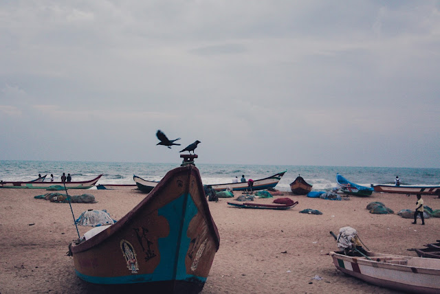 A deserted beach at the Bay of Bengal