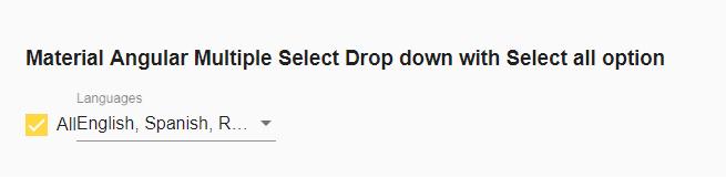 Material Angular Multi-Select drop down|Mat CheckBox|Select