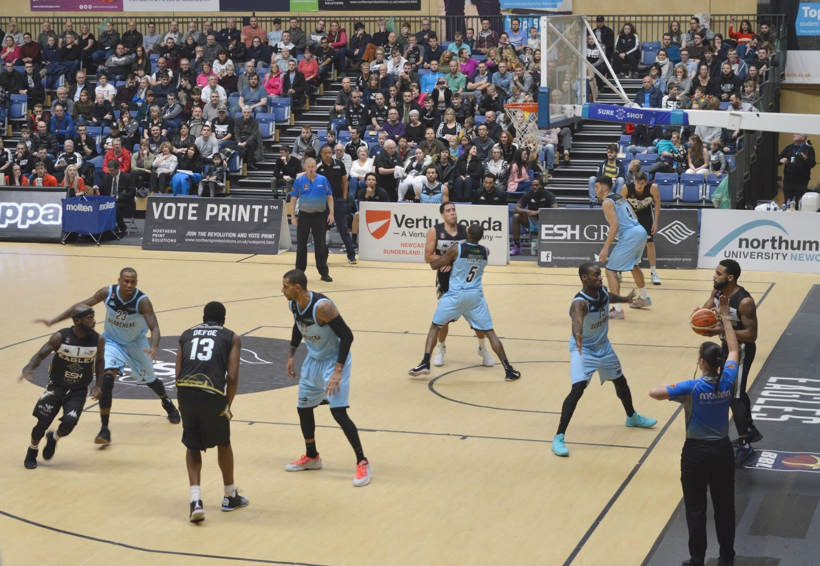 Date Night at the Newcastle Eagles Basketball Game, Sport Central