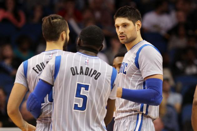 Evan Fournier, Orlando Magic & Victor Oladipo,Orlando Magic & Nikola Vucevic, Orlando Magic