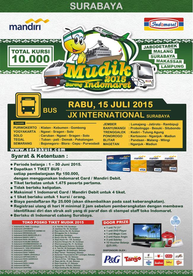 Mudik Bareng Indomaret 2015 Surabaya