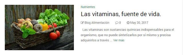 Las vitaminas, fuente de vida.