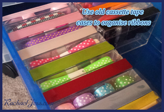 Taming the wild ribbon drawer with a new lease of life for the old cassette tape cases