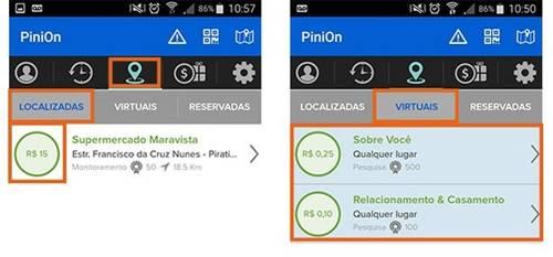 Encontre as missões para responder pesquisas pagas no PiniOn