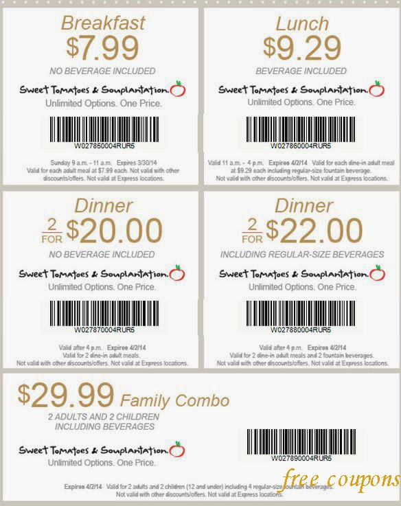 graphic relating to Souplantation Printable Coupons identify Souplantation coupon codes oct 2019
