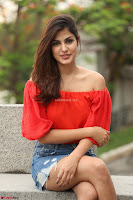 Rhea Chakraborty in Red Crop Top and Denim Shorts Spicy Pics ~  Exclusive 010.JPG