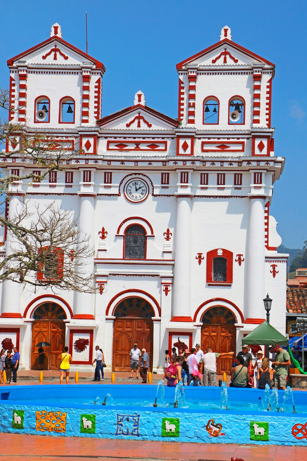 Beautiful Church in Guatapé, Colombia