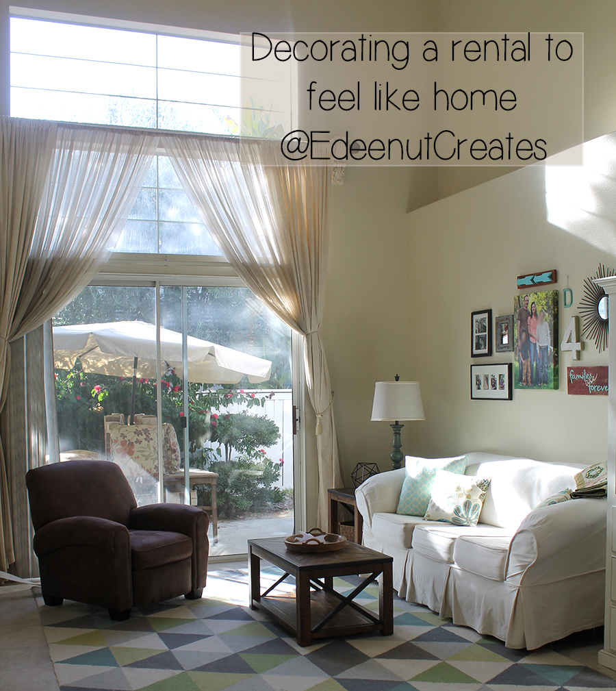 edeenut creates feeling at home in a rental family room 7 tips for decorating a rental home on a budget recycled