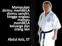 Aziz: Selagi Jantung Masih Berdenyut, Latihan Karate Tidak Pernah Berhenti