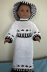 http://www.ravelry.com/patterns/library/black--white-pansey-outfit-for-american-girl-size-doll