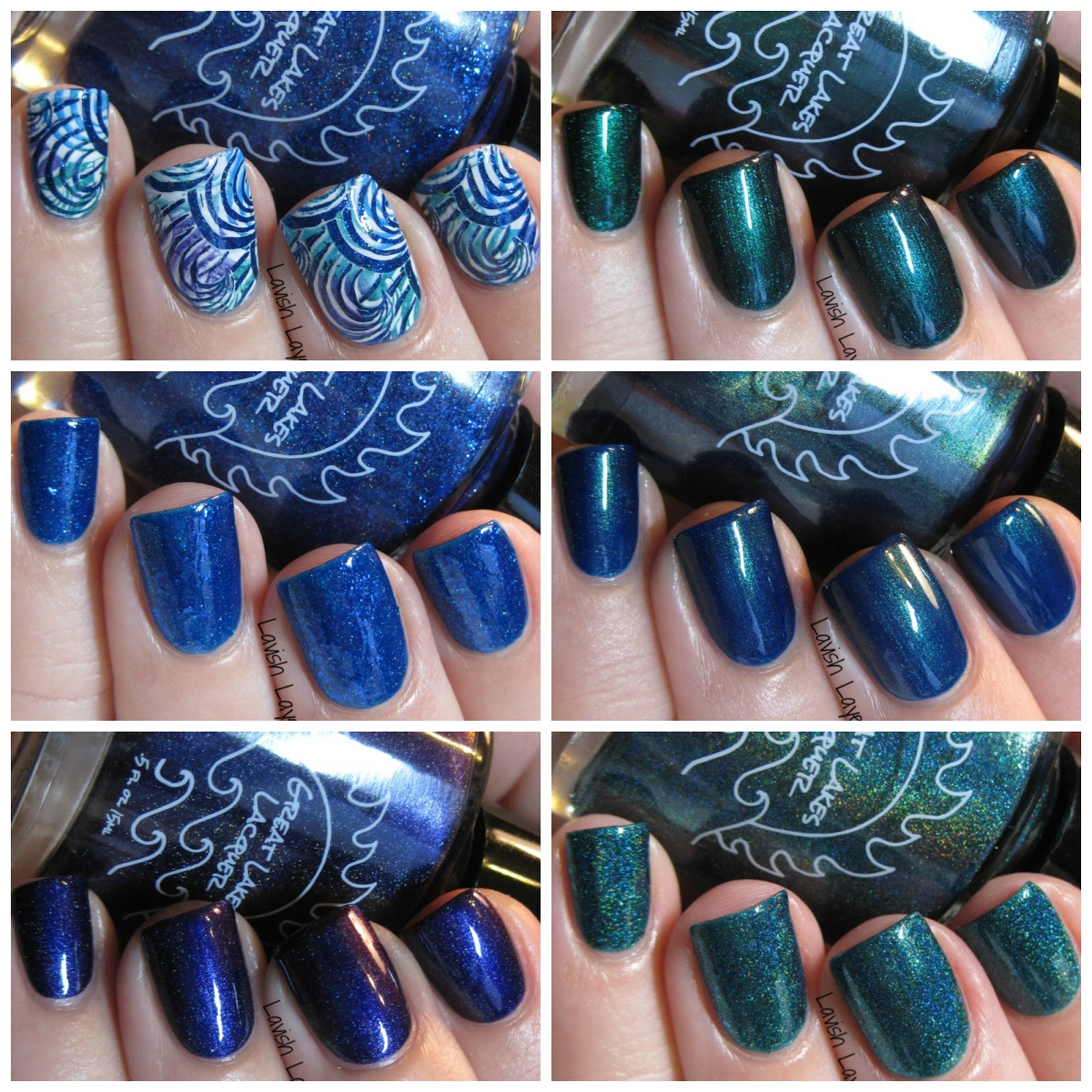 Lavish Layerings: Great Lakes Lacquer The Great Ones Collection