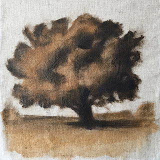 Daily Art 08-24-2018 tree study exercise with glaze layer