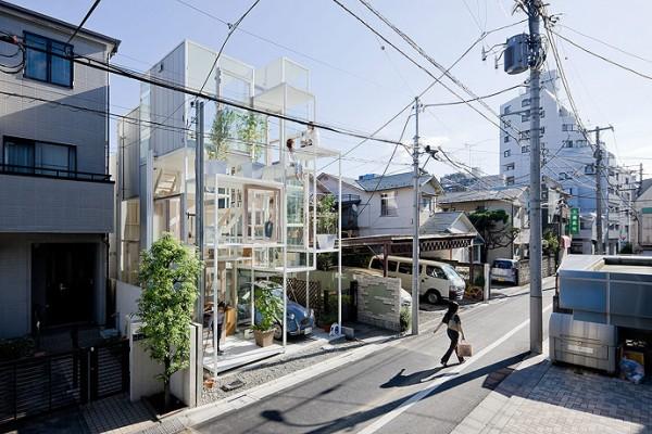 modern house transparent house design