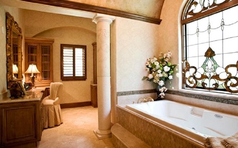 Design interior casa clasica de lux -| Amenajare interioara baie casa Constanta