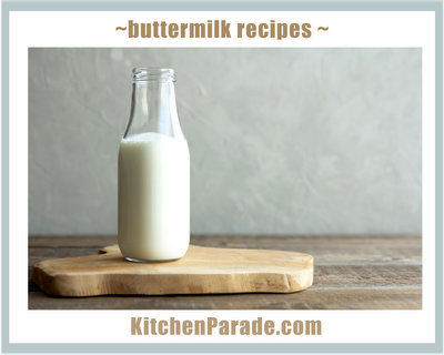 Buttermilk Recipes ♥ KitchenParade.com, use up the last drop!