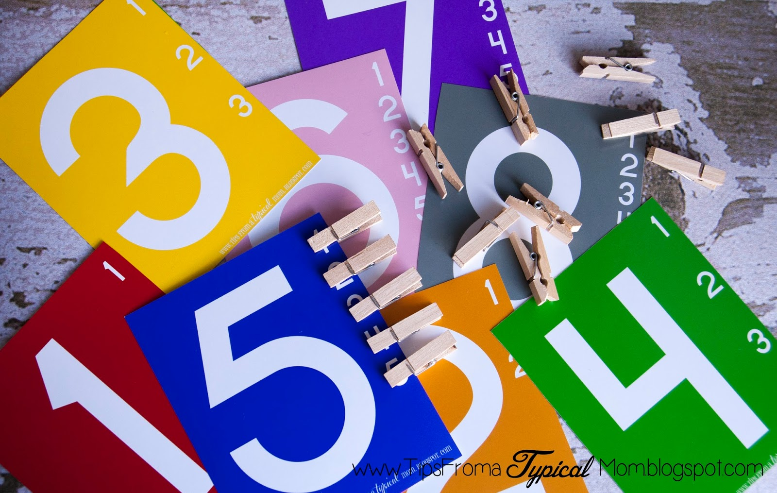 teach kids numbers free printable activity preschool
