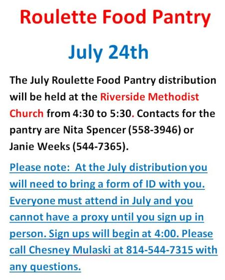 7-24 Roulette Food Pantry
