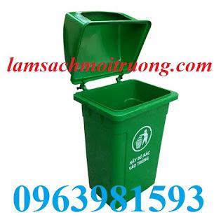 Thùng rác nắp mở, thùng rác công cộng, thùng rác nhựa Composite giá rẻ