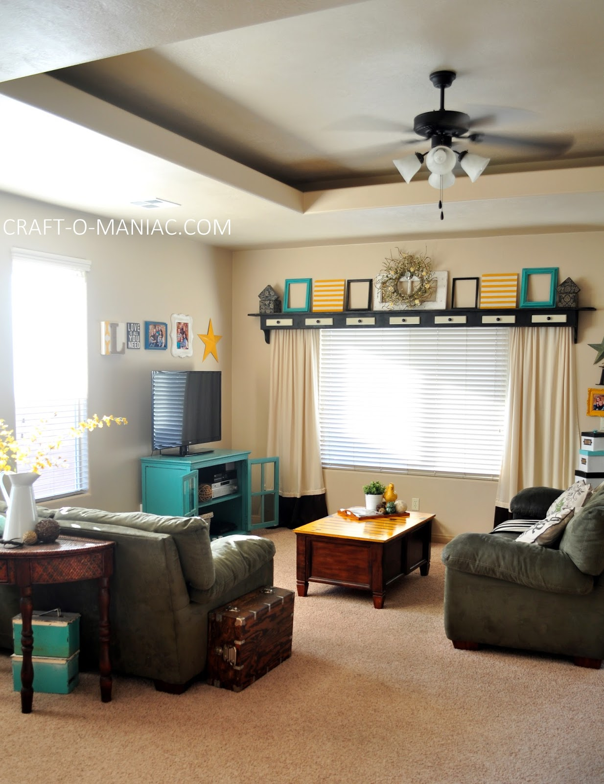 Home Decor My Turquoise And Yellow Family Room