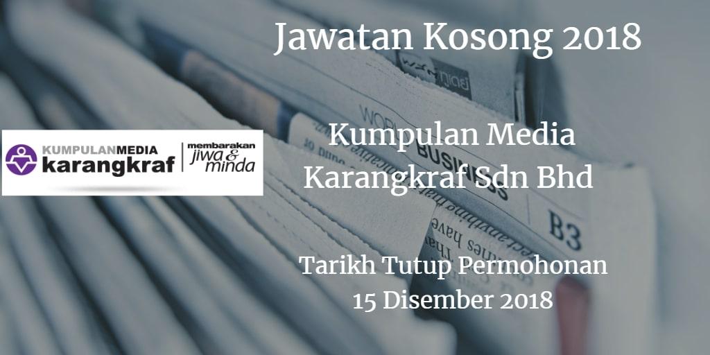 Jawatan Kosong Kumpulan Media Karangkraf Sdn Bhd 15 Disember 2018