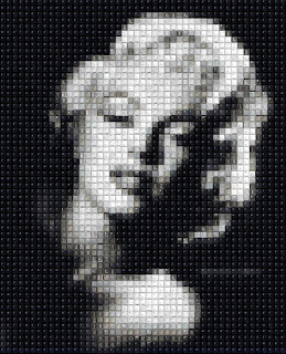 Pixelated Marilyn Monroe