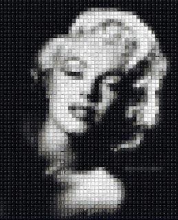 Pixelated Marilyn Monroe
