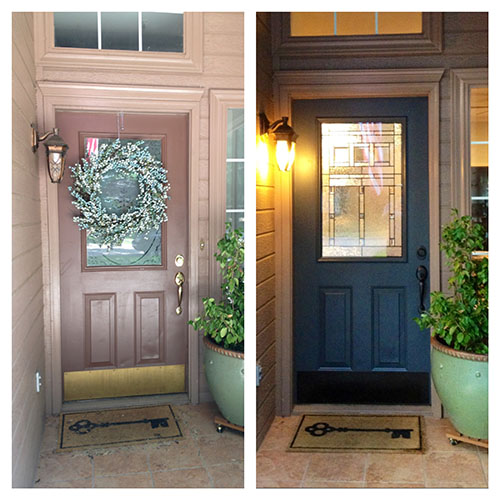 The Happy Homebodies: DIY Front Door Makeover