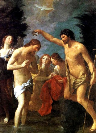 Foto a la pintura del Bautismo de Jesús