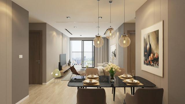 Mẫu thiết kế phòng khách căn hộ Gelexia Riverside