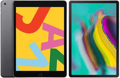 Comparativa mejores tablets ~350 euros Apple iPad 10.2 2019 vs Samsung Galaxy Tab S5e 10.5