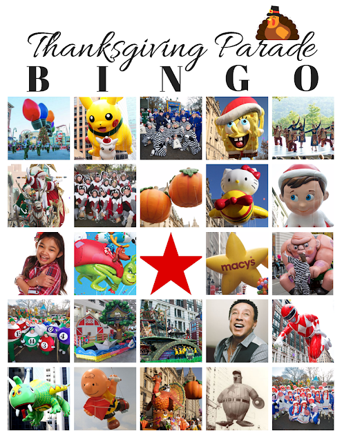 Thanksgiving Day Parade BINGO for 2017 {Free Printables}
