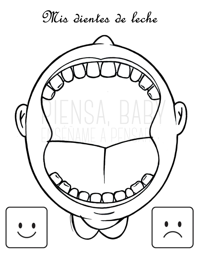 mouth template for preschool - ens ame a pensar higiene dental juegos montessori para