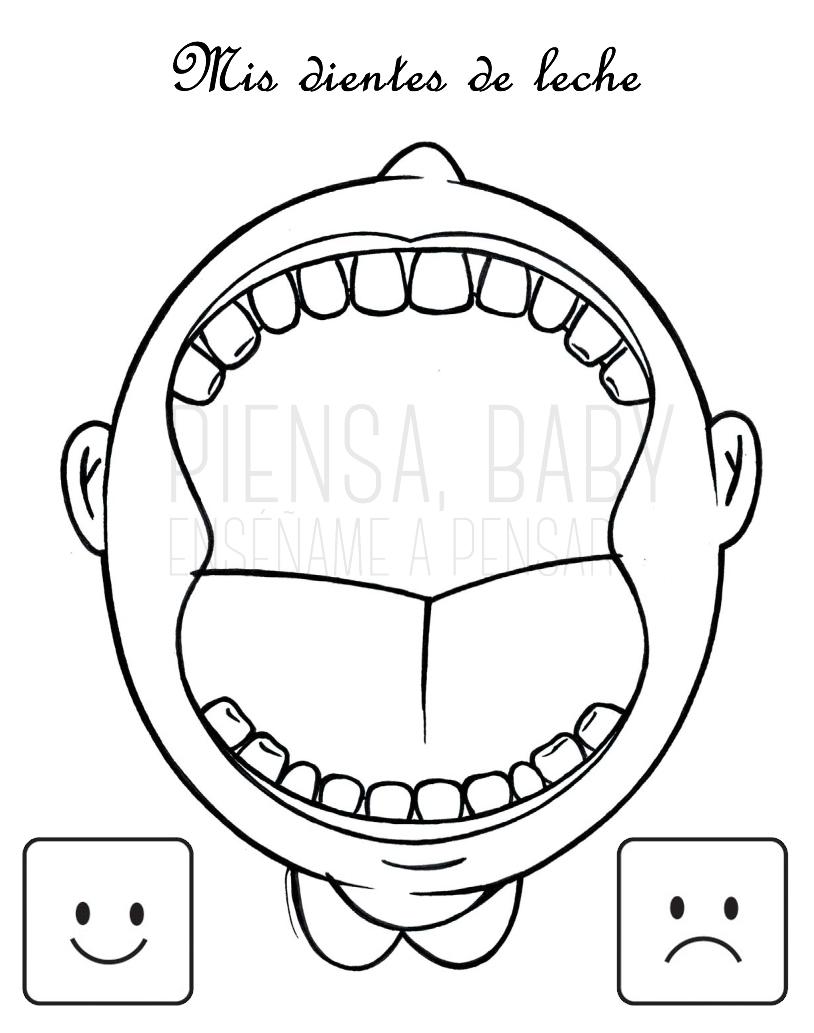 Enséñame a pensar: Higiene dental: Juegos Montessori para
