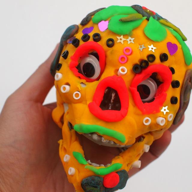 play doh dia de los muertos sugar skull kids activity craft