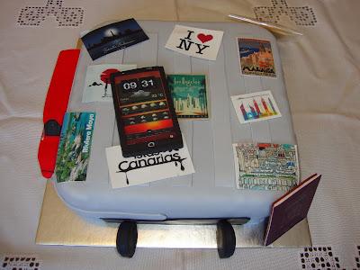 Tarta Trolley viajero