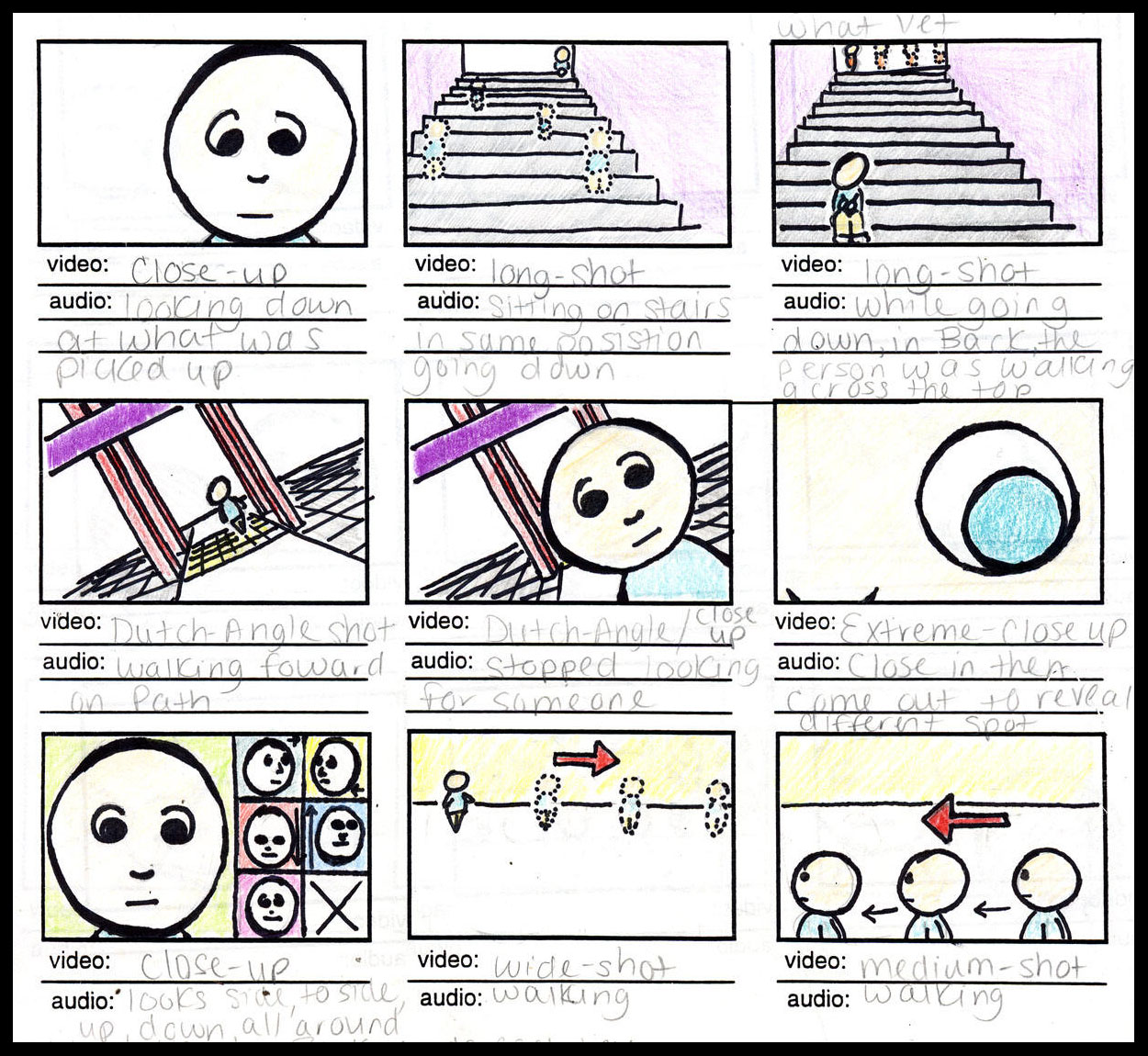 how to write a storyboard for school