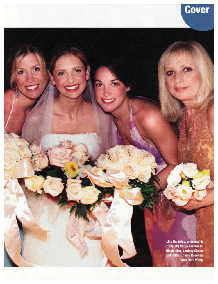 Red Carpet Wedding Sarah Michelle Gellar And Fred Prinze Jr