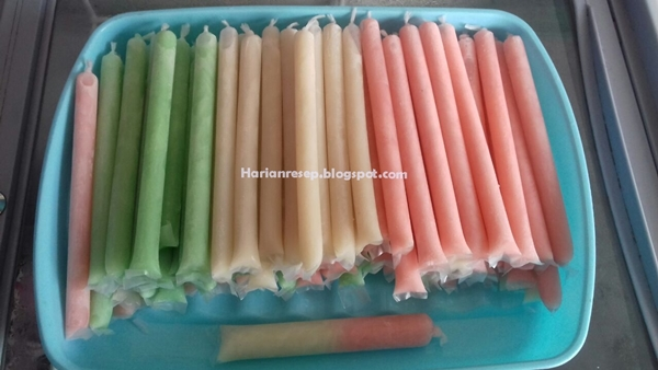Resep Es Lilin Susu Untuk Dijual 1000-an Laba 200rb per Produksi