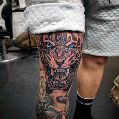 erkek üst bacak dövme modelleri man thigh tattoos 25