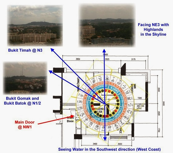 Cool The Floor Plan of a Northeast facing Room apartment with the Hills and Highlands at the skyline