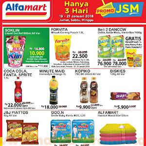 Promo JSM Alfamart 19 - 21 Januari 2018 Hanya 3 Hari